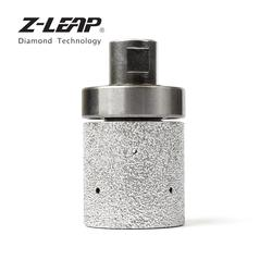 Z-LEAP 2 Diamond Drum Wheel Vacuum Brazed Polishing Granite Marble Stone Sink Hole Edge Abrasive Tool With 5/8-11 Or M14 Thread