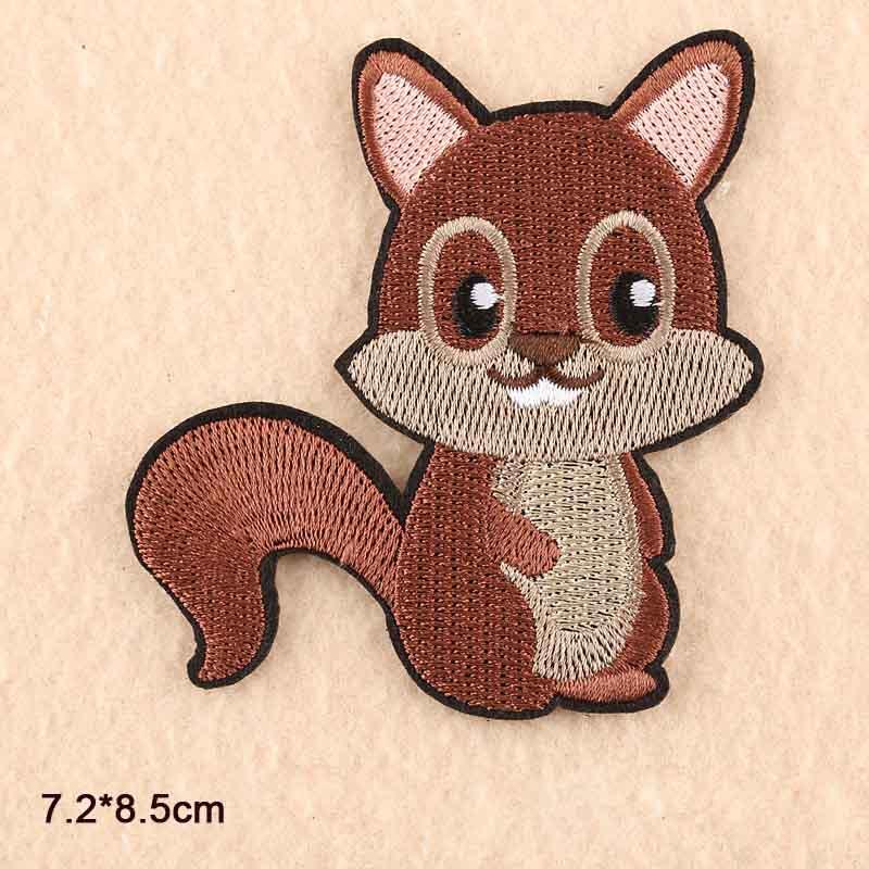 Милая вышитая тканевая нашивка с изображением двух белок из мультфильма «Железо» для девочек и мальчиков, одежда с наклейками, одежда - Цвет: Антикварная медь