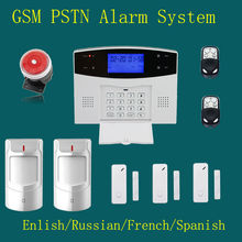 LCD 99 Wireless 4 wired GSM SMS Remote contrl Arm/Disarm Burglar Voice Home Security Protection Alarm F Intercom safe Auto dial