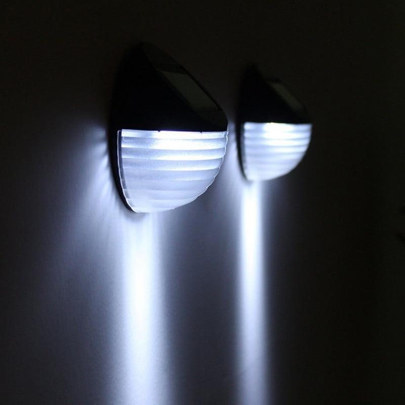 2018 Nieuwe Thuis Gereedschap Solar Light Led Ronde Wandlamp Wit Lezen Wandlampen 5.24 Home Yard Solar Night Verlichting Pvc Abs Verlichten Van Warmte En Zonnesteek
