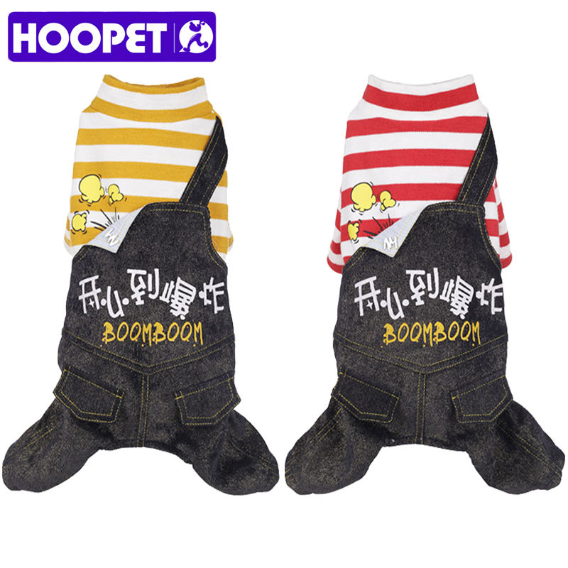 HOOPET Pet Dog Clothes Warm Striped Jumpsuit Puppy Chihuahua For Small Dogs Clothing Four Feet Outfit