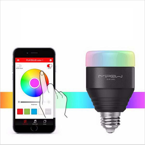 Smartphone Controlled Lights - Dimmable E27 RGB LED Light Bulb ...