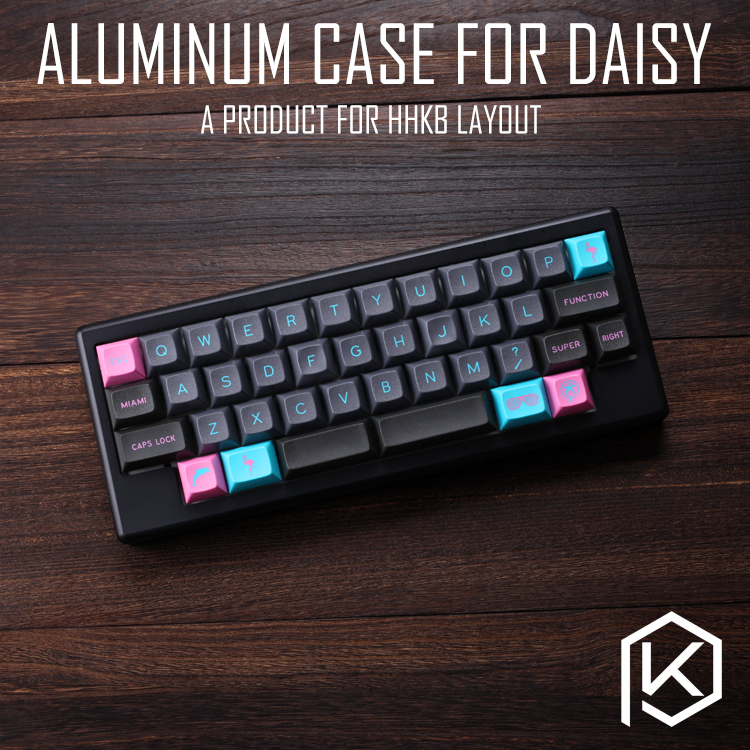 US $63 9 |Anodized Aluminium case for daisy 40% hhkb layout custom keyboard  acrylic panels diffuser can support daisy-in Keyboards from Computer &