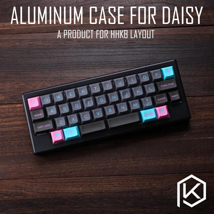 Anodized Aluminium Case For Daisy 40% Hhkb Layout Custom Keyboard Acrylic Panels Diffuser Can Support Daisy