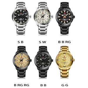 Image 5 - New Fashion Mens Watches Gold Full Steel Male Wristwatches Sport Waterproof Quartz Watch Men Military Hour Man Relogio Masculino