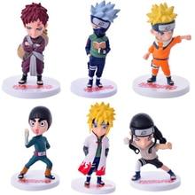 Naruto 6Pcs/Set Sasuke Figure Set Figurine PVC Action Figure Toys