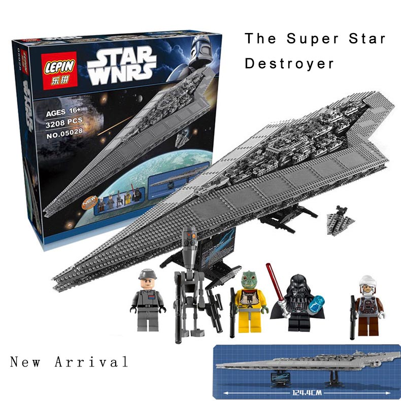 Lepin 05028 Star Destroyer Lepin Star Wars Blocks 3208pcs Lepin Starwars Legod Execytor Bricks Blocks Compatible Toys lepin 05028 3208pcs star wars building blocks imperial star destroyer model action bricks toys compatible legoed 75055
