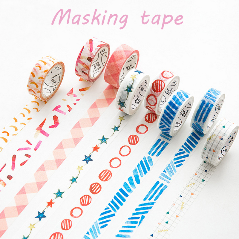 1.5cm*7m decoration series washi tape DIY decorative scrapbook planner masking tape adhesive tape stationery school supplies 3cm 7m raining butterfly washi tape diy decorative scrapbook planner masking tape office adhesive tape stationery