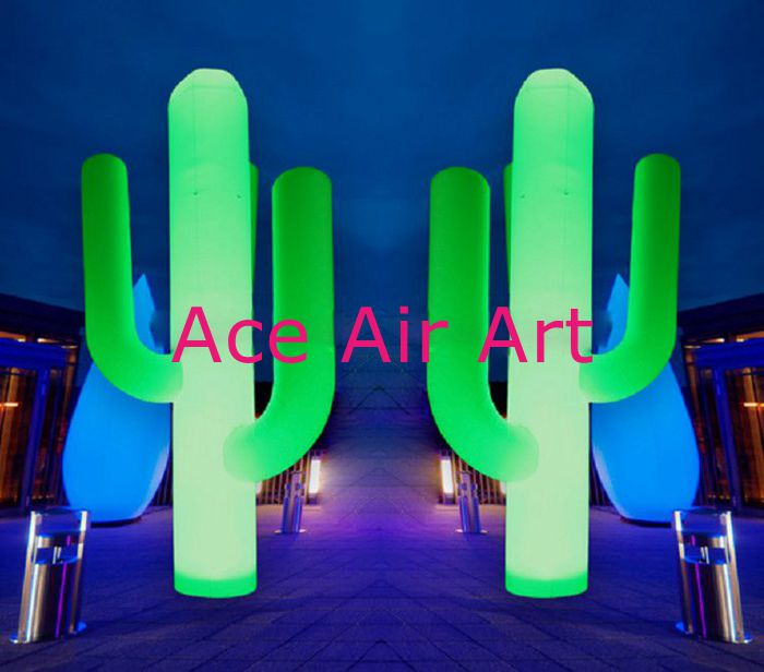 22m h beautiful inflatable led cactus for stage decorationpartychina mainland - Party Decorations Cheap