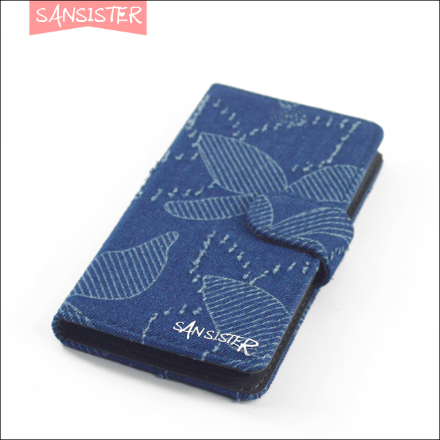 Denim phone case for coolpad catalyst 3623a 3622a denim wallet case with card slots 9 colors just show the casual lifestyle