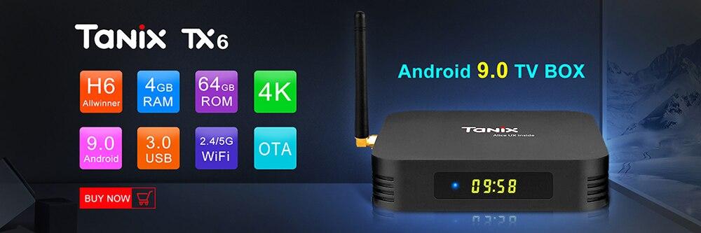 Tanix TX6 Smart TV Box Android 9 0 4GB DDR3 32GB/64GB EMMC