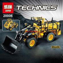 New LEPIN 20006 technic series 1636pcs Volvo L350F wheel loader Model Building Kit Minifigure Blocks Bricks Compatible Toy 42030