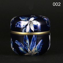 Multifunction Chinese Style Tea Caddies Round Metal Tea Box