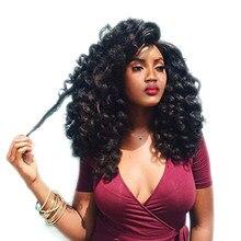 SAMBRAID Ombre ürkek değnek tığ örgüler 22 kökleri Jamaican sıçrama Curl tığ saç sentetik örgü saç uzatma