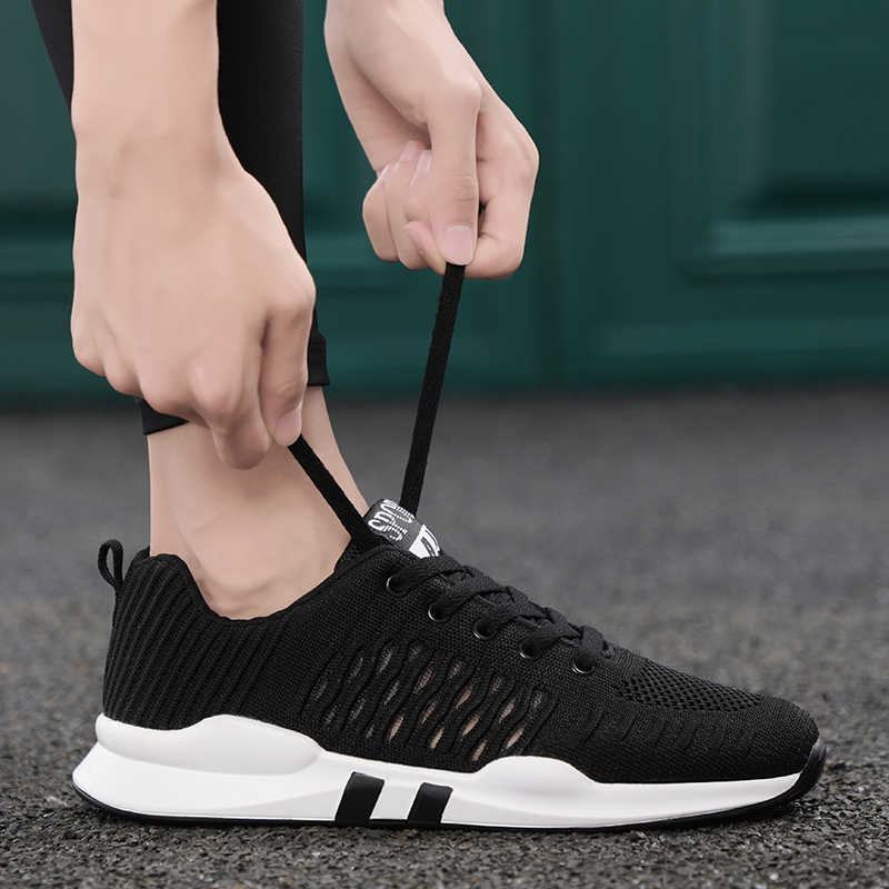 d84f814f2a21 Men Sneaker Sport Air Running Knitted Zoom Breathable Mesh Outdoor Flywire  Shoes Fly Women Zoom EQT