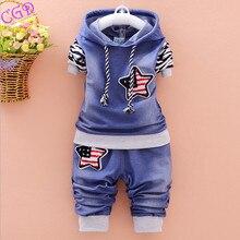 Boys Suit Children Wear Spring Sport Tracksuit Baby Clothing Set(T-shirt+Pants)Kids Girls Stripe Sweatshirt Clothes 2pieces Sets