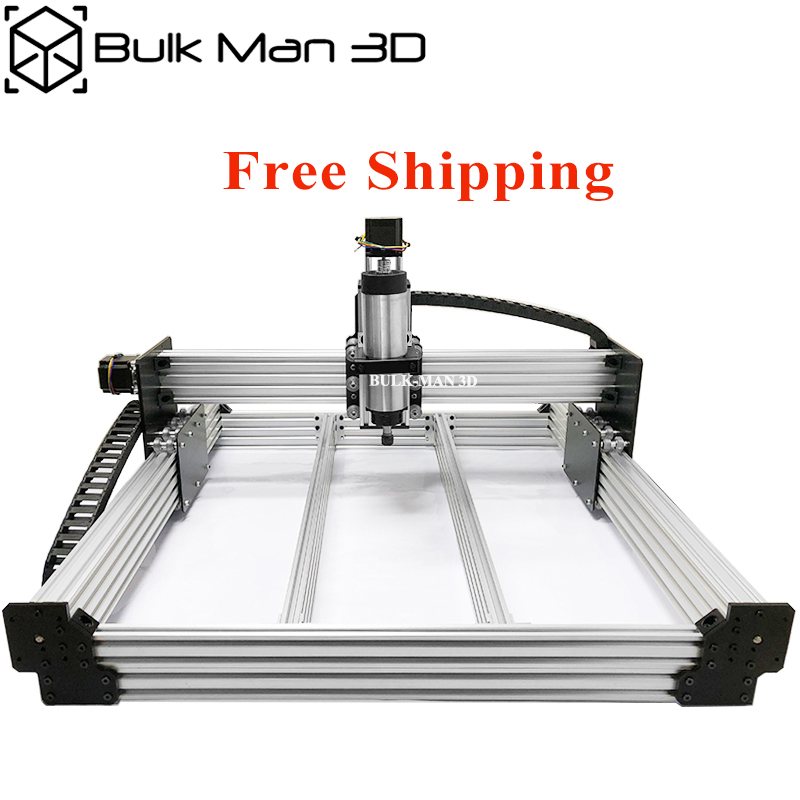 Free Shipping 4Axis WorkBee CNC Router Machine Kit Screw Driven Mach3 or GRBL Controller Bundle Open