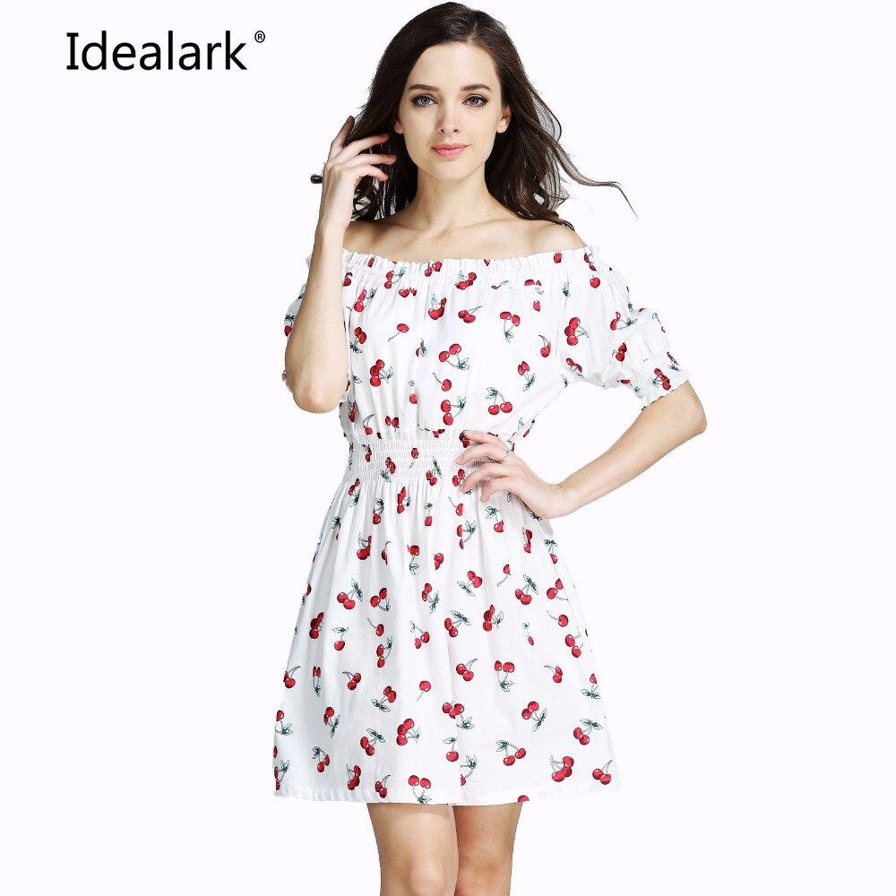 чистого хлопка Новый 2017 плюс размер хлопка весной платье женщин Украины вскользь сексуальная широкая лодка шеи платья Vestidos WC0584-1