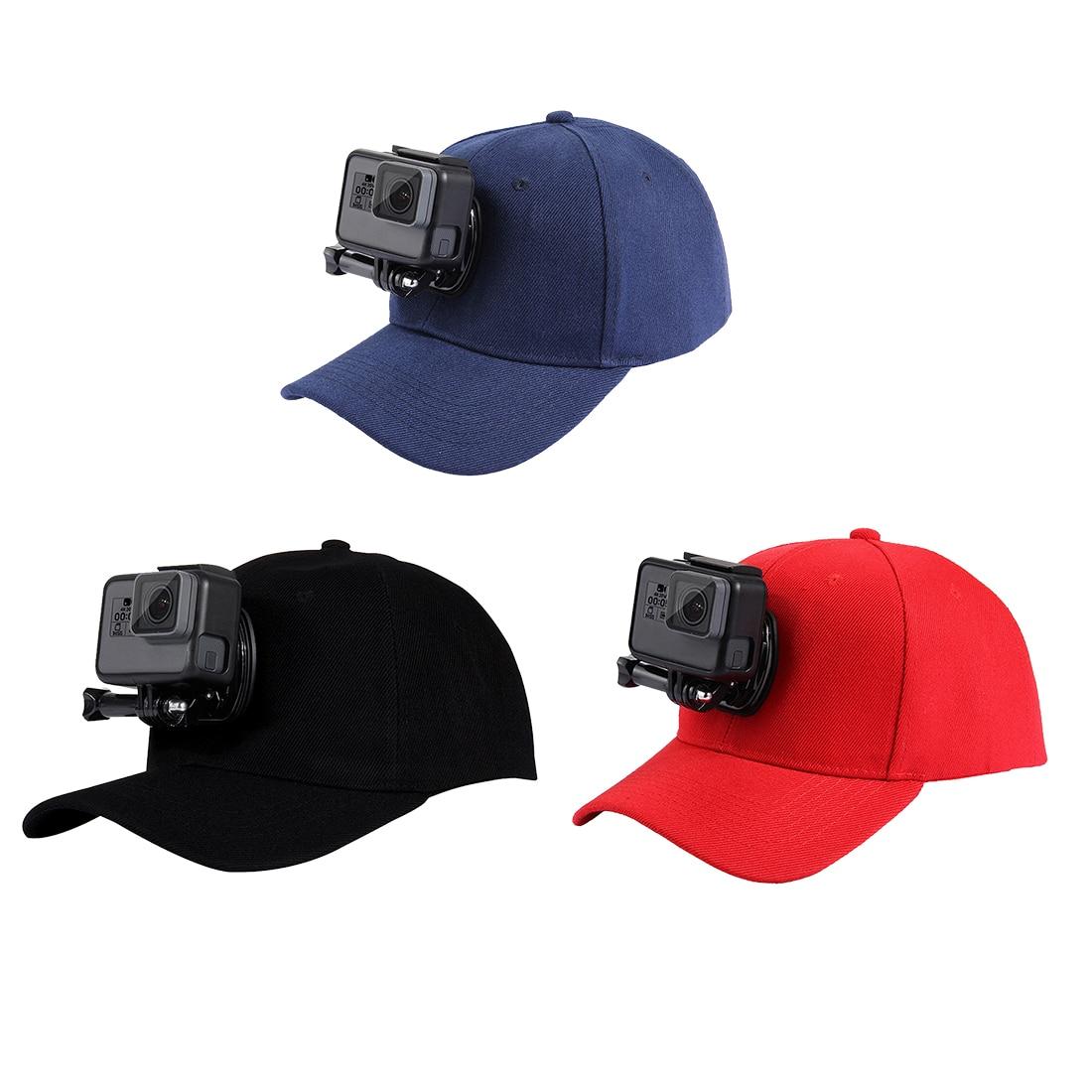 Para Gopro accesorios ajustable del sombrero de Sun de la lona tapa para héroe 5 4 3 SJCAM SJ7 SJ6 M20 Eken H9 H9R h8 Pro Yi 4 K deporte acción Cámara
