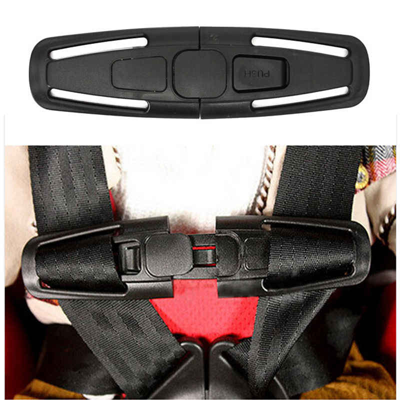 1pc Black Car Baby Safety Seat Clip Fixed Lock Buckle Safe Belt Strap Latch Harness Chest Child Toddler Clamp