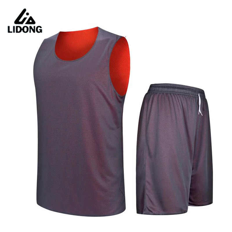 599cbc24a280 ... 2018 Kids Boys Reversible Basketball Jersey Set Uniforms kits Sports  clothes Double-sided basketball jerseys