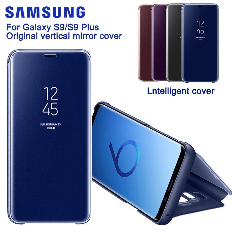 SAMSUNG Miroir Vertical Coque de Protection de Téléphone Housse De Téléphone étui pour SAMSUNG GALAXY S9 G9600 S9 + Plus G9650 Étui Mince