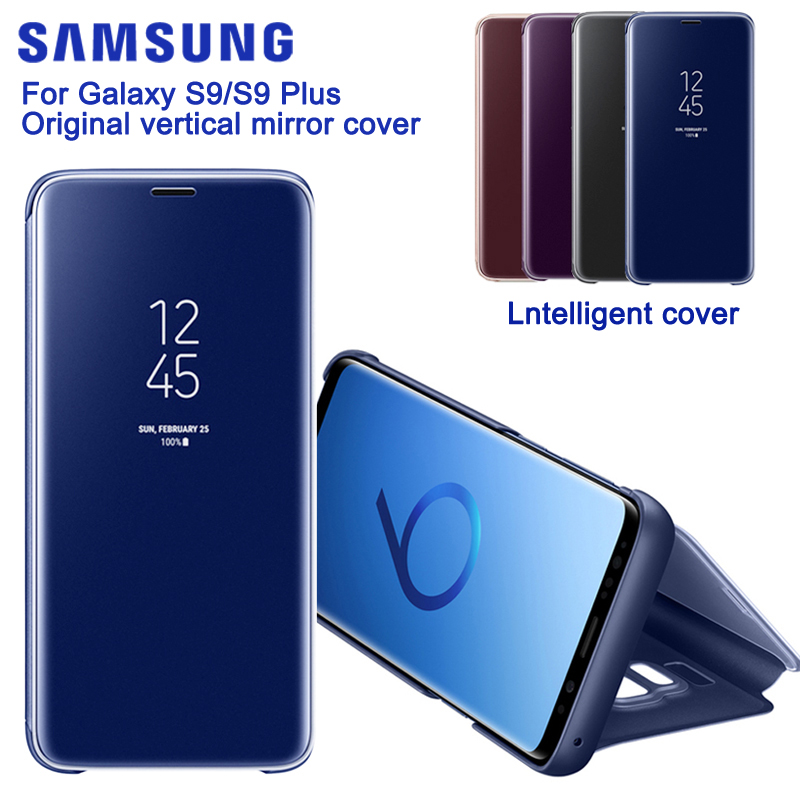 SAMSUNG Vertical Mirror Protection Shell Phone Cover Phone Case For Samsung GALAXY S9 G9600 S9+ Plus G9650 Slim Flip CaseSAMSUNG Vertical Mirror Protection Shell Phone Cover Phone Case For Samsung GALAXY S9 G9600 S9+ Plus G9650 Slim Flip Case