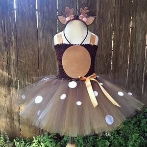 Image 5 - Kerst Herten Tutu Jurk Baby Meisjes 1st Verjaardag Party Jurken Gelukkig Purim Halloween Animal Cosplay Kostuum Kleding 1 14Y