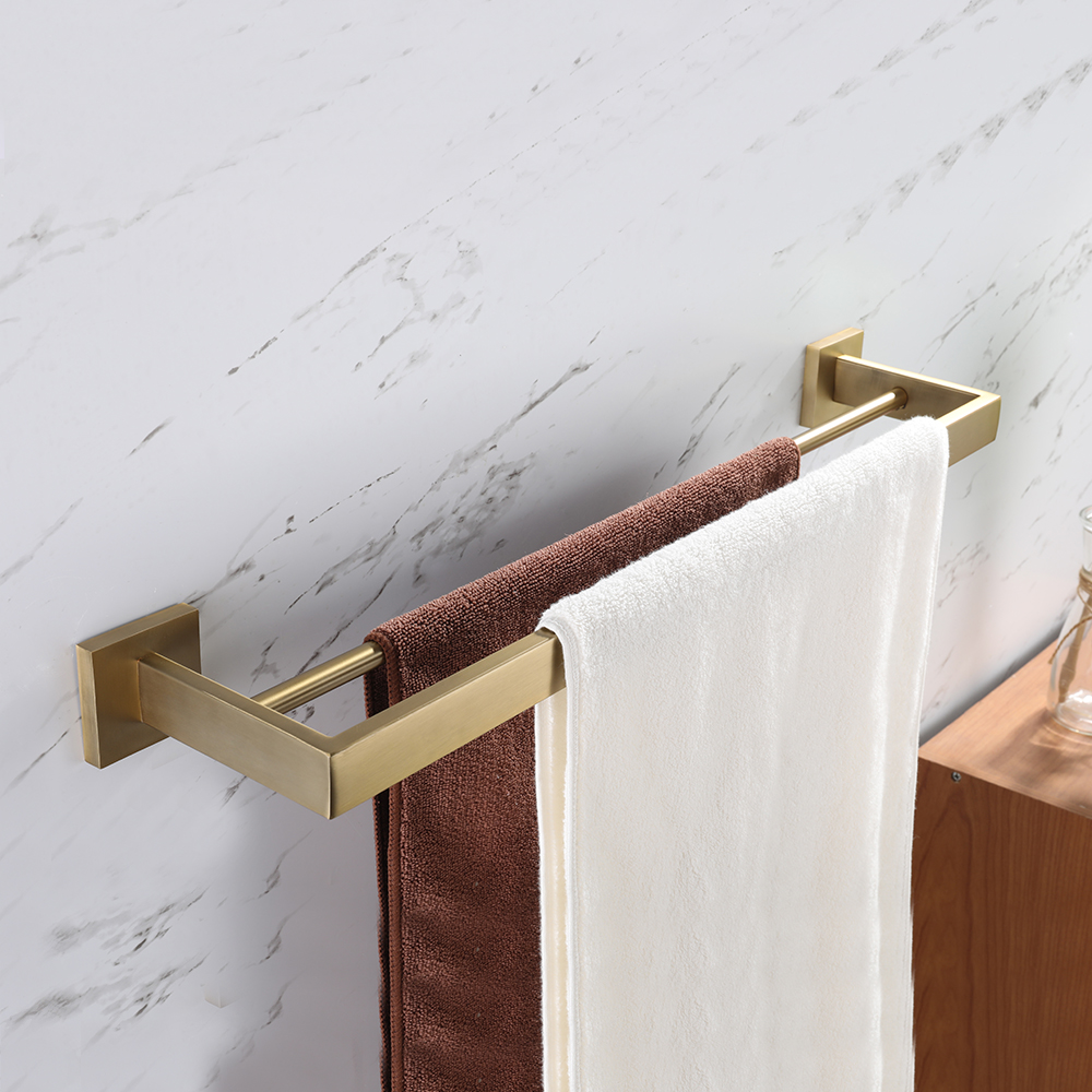 SUS 304 Stainless Steel Single Towel Bar Towel Rack Holder Gilded Brushed Gold Wall Mounted Single  Bathroom AccessoriesSUS 304 Stainless Steel Single Towel Bar Towel Rack Holder Gilded Brushed Gold Wall Mounted Single  Bathroom Accessories