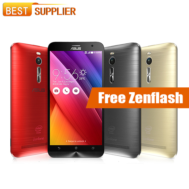 ГОРЯЧАЯ Оригинальная Asus Zenfone 2 ZE551ML смартфон 5.5 ''4 ГБ Оперативная память 32 ГБ Встроенная память Atom Z3560 1.8 ГГц 13.0MP NFC GPS Dual SIM 3000 мАч