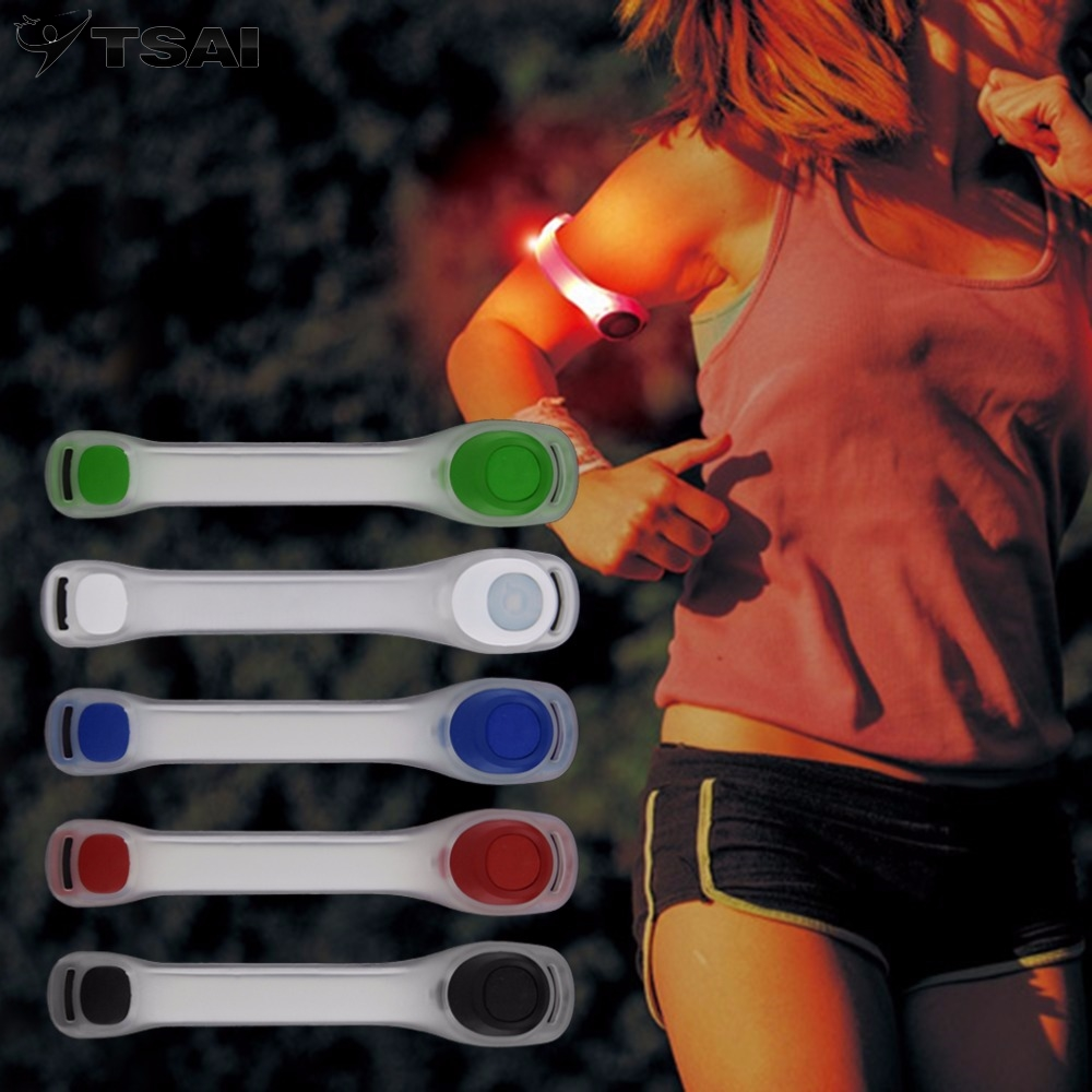 1 Stück Reflektierende Sicherheit Gürtel Arm Strap Nacht Radfahren Lauf Led Armband Licht