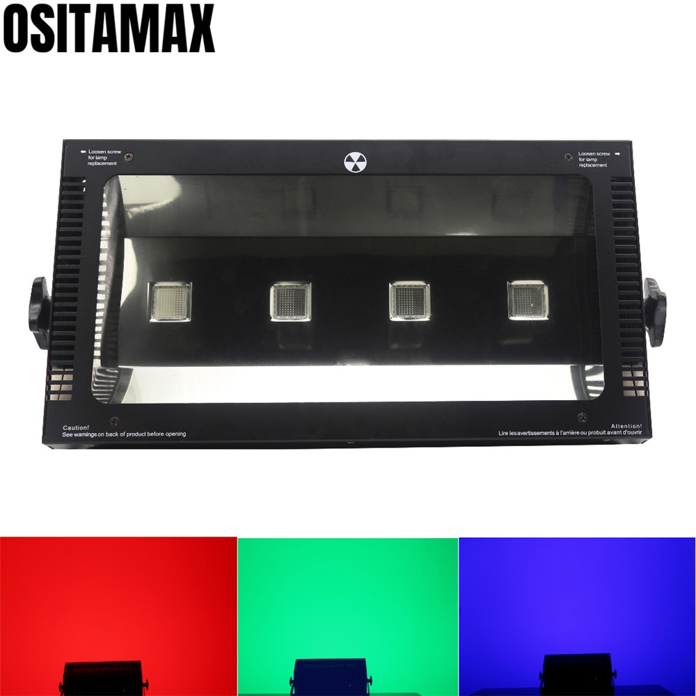 free shipping 4x100w COB LED Stroboscope RGB Strobe Flash Light High Brightness Matrix Strobe Disco Light