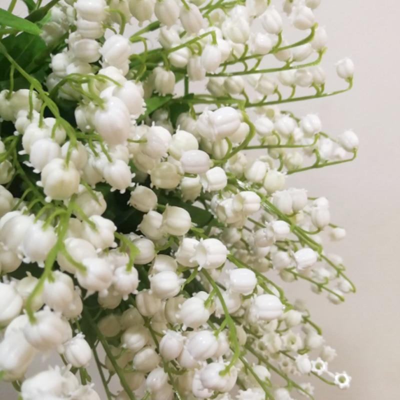 Kunstliche Kunststoff Orchidee Maiglockchen Blumen Hause Burotisch