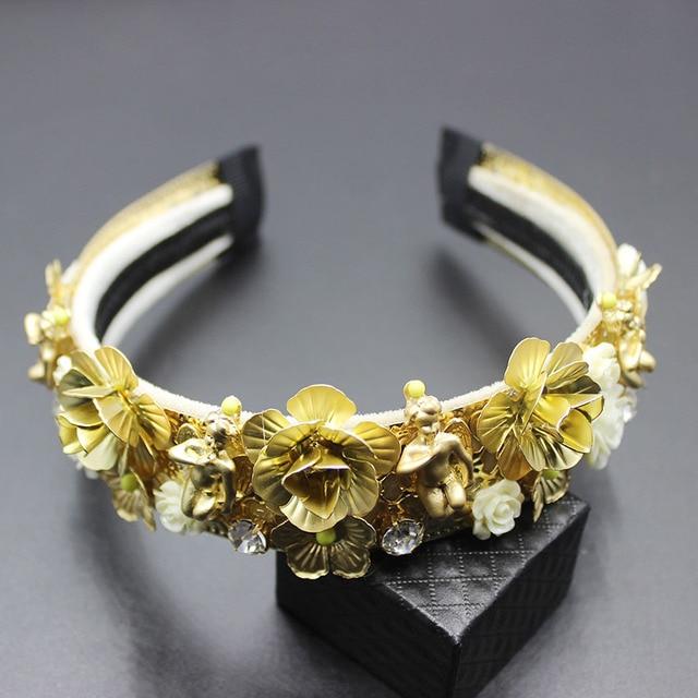 2019 Fashion new luxury baroque catwalk court hair hoop gorgeous gems hair hoop hair Fashion luxury wild dance headband 304