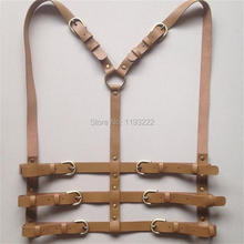 Cool Leather Harness Handmade Body Bondage Caged Belt Bustier Corset Sculpting Waist Straps
