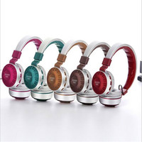 Foldable Ear Muffs Headphone Overhead with Mic Hands Free Bluetooth Gamer Headset FM TF Active Noise Reduciton Hands Free