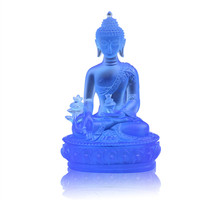 Opening resin pharmacist Buddha glass ornaments by pharmacist Buddha statue living room porch decoration home decorations crafts