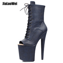 Gothic Fetisch Pole Dancer Stripper Clubwear Sexy High Heel Stiefeletten(China)