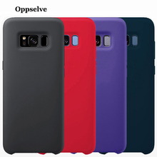 Oppselve Luxury Silicone Case For Samsung Galaxy S10 S9 S8 Plus + Silky Back Protective Cover Note 9 8 Capinhas