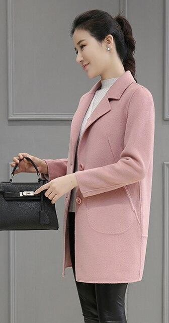 D'hiver Survêtement Rose camel De Laine Manteau Femelle 2019 Nouvelle Mode Printemps Femmes Longues Automne Et Wertuiop Mince Veste p6qaZxwTP