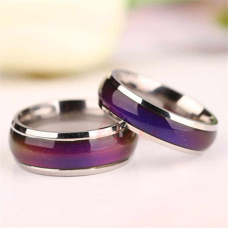 เครื่องประดับอารมณ์แหวนสีเปลี่ยนอารมณ์ความรู้สึกอารมณ์แหวนเปลี่ยนวงแหวนอุณหภูมิ