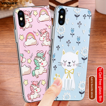 Soft TPU 3D Relief Printed Case For iPhone X
