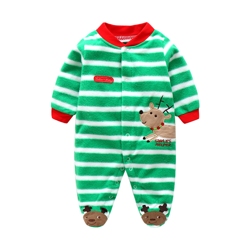 8ebaae781 Unisex Baby Rompers Cartoon Animal Clothing Set Winter Girls Warm Fleece  Clothes Boys Foot Overalls Newborn Infant Jumpsuit-in Rompers from Mother &  Kids on ...