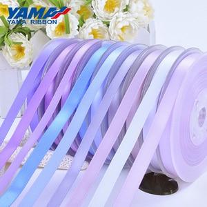 Image 4 - Yama 50 57 63 75 100 mm 100 jardas/lote dupla face fita de cetim roxo para festa de casamento decoração artesanal flores rosa artesanato