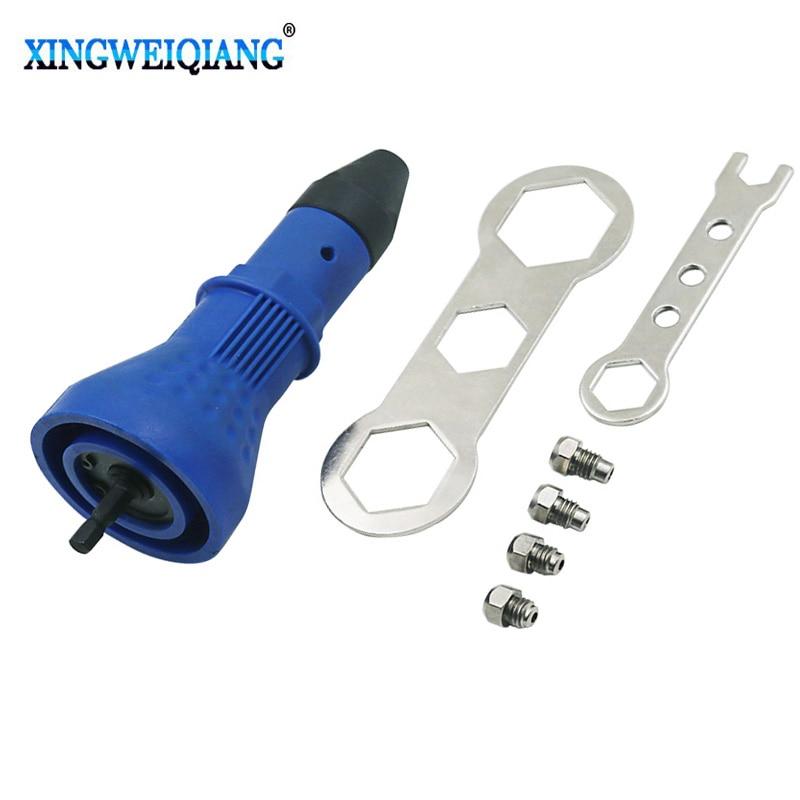 Electric Rivet Nut Gun Riveting Tool Cordless Riveting Drill Adaptor Insert Nut Tool Rivets Drill Adapter Power Tool Sets