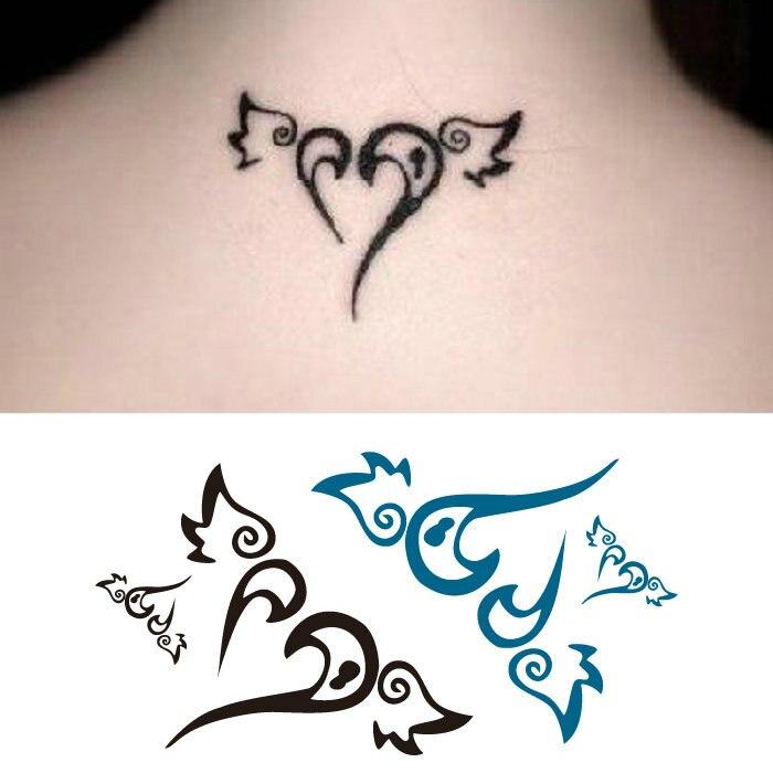 Us 023 46 Offvliegende Liefde Vleugels Waterdichte Tattoo Stickers Tattoo Stickers Waterdicht Mannen En Vrouwen Cover Litteken Cover Blijvende In