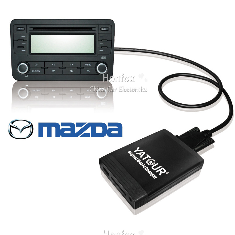 ФОТО Yatour YT-M06 CAR Digital music changer For mazda 3 5 6 cx-7 mpv 2003-2008 Car MP3 interface USB SD MP3 SD AUX adapter