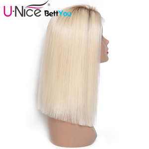 Image 3 - Unice Hair Bettyou Wig Series T4 613 Lace Wig For Black Women Ombre Blonde Lace Front Wigs Pre plucked Straight Human Hair Wigs