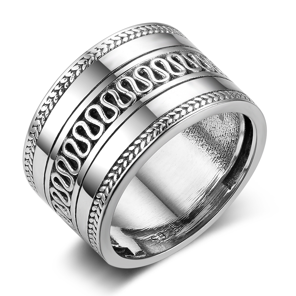 Vintage Rings Fashion Jewelry Women Gift Wave for Round RI102804