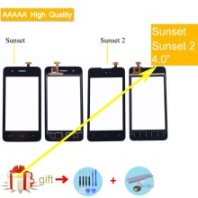 For Wiko Sunset Sunset 2 Sunset2 Touch Screen Panel Sensor Digitizer Front Outer Glass Touchscreen For Wiko SUNSET Touch Panel touchscreen digitizer glass panel for canon imagerunner ir 105 copier control touch screen panel